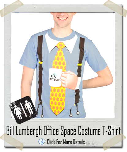ce72be5369 Bill Lumbergh Office Space Costume T-Shirt - Let There Be Tees
