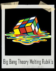 Big Bang Theory Melting Rubik's Cube T-Shirt