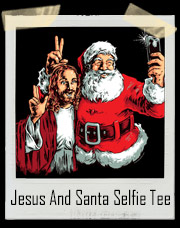 Jesus Christ And Santa Claus BFF Selfie T-Shirt