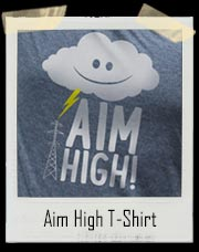 Aim High - Storm Cloud And Lightning T-Shirt