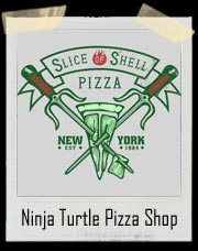 Ninja Turtle Slice of Shell Pizza Shop T-Shirt
