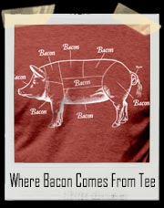 Where Bacon Comes From T-Shirt