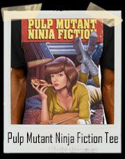 Pulp Mutant Ninja Fiction April O'Neil TMNT T-Shirt