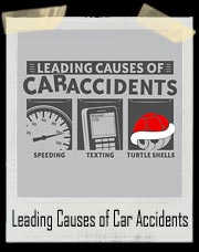 Leading Causes of Accidents Mario Cart Turtle Shell T-Shirt