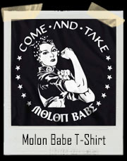 Molon Babe Molon Labe Come And Take Women's T-Shirt