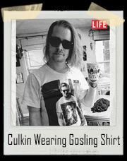 Macaulay Culkin Wearing Ryan Gosling Wearing Macaulay Culkin T-Shirt