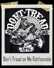 Don't Tread on Me Rattlesnake Gun T-Shirt