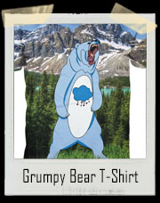 Grumpy Real Care Bear All Over Print T-Shirt