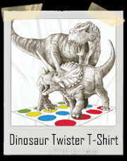 Dinosaur Twister T-Rex and Triceratops T-Shirt