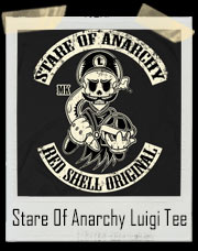 Luigi Stare Of Anarchy Mario Cart 8 T-Shirt