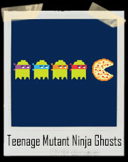 Teenage Mutant Ninja Ghosts Pizza Pac Man T-Shirt