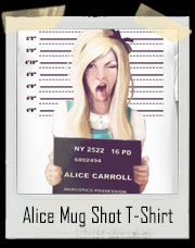 Alice In Wonderland Mug Shot Narcotics T-Shirt
