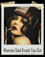 Momma Said Knock You Out Sexy Pin Up Boxer T-Shirt