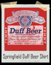 Duff Beer - Simpsons Budweiser Inspired Vintage T Shirt
