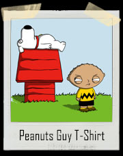 Peanuts Guy Stewie Brown T-Shirt
