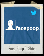 Face Poop Twitter Facebook T-Shirt
