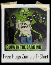 Glow In The Dark Free Hugs Zombie T-Shirt