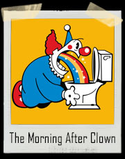The Morning After Clown Rainbow Vomit T-Shirt