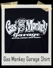 Gas Monkey Garage Blood Sweat And Beer T-Shirt