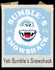 Rudolph the Red-Nosed Reindeer's Yeti Bumble's North Pole Snowshack T-Shirt