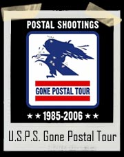 United States Postal Shootings Gone Postal Tour T Shirt