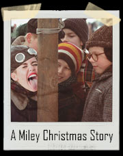 A Miley Cyrus Christmas Story Stuck Tongue T-Shirt