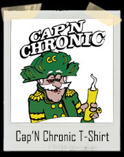 Cap'N Chronic Weed Smoking Bong T-Shirt