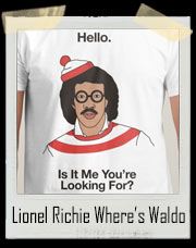 Lionel Richie Hello Where's Waldo T-Shirt