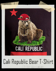 Gangster California State Flag Republic Bear T-Shirt