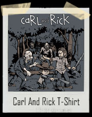 Carl And Rick Walking Dead Adventure T-Shirt
