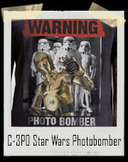 C-3PO Star Wars Photo Bomber T-Shirt