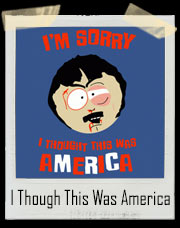 I'm Sorry I Though This Was America Randy Marsh South Park Youth Sports Fighting T-Shirt