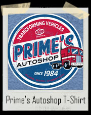 Optimus Prime's Transformers Autoshop T-Shirt