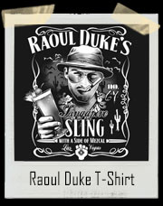 Fear and Loathing in Las Vegas Raoul Duke's Singapore Sling Jack Daniels Label Style T-Shirt