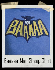 Baaaaa-Man Sheep Super Hero T-Shirt (Batman Inspired)