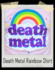 Pink Death Metal Rainbow Sparkle T-Shirt