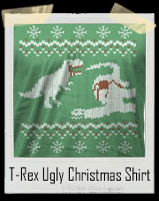 T-Rex Dinosaur Snack Ugly Christmas Sweater T-Shirt