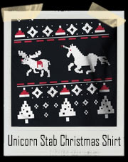 Unicorn Stab Reindeer Ugly Christmas Sweater T-Shirt