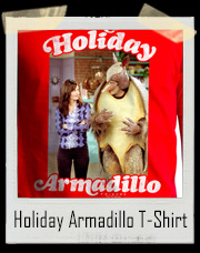 Holiday Armadillo Ross And Monica Friends Christmas T-Shirt