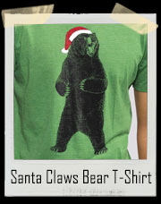 Santa Claws Grizzly Bear T-Shirt
