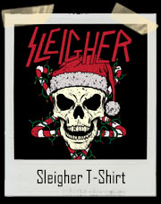 Sleigher Holiday Skull T-Shirt