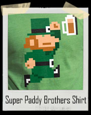 Super Paddy Brothers Mario Bros. Inspired Leprechaun T-Shirt