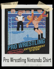 Pro Wrestling Nintendo Video Game Cover T-Shirt