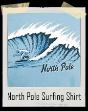Global Warming North Pole Surfing Polar Bear T-Shirt