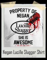 Negan Lucille Slugger Walking Dead Bat T-Shirt
