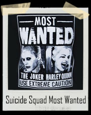 Suicide Squad Most Wanted Joker And Harley Quinn T-Shirt