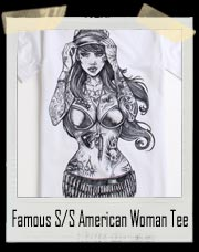 Famous S/S American Woman - Tattoo T Shirt