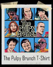 The Pulpy Brunch Pulp Fiction and Brady Bunch Inspired T-Shirt