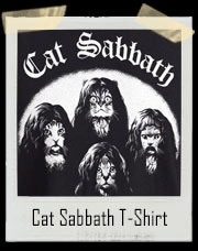 Cat Sabbath T-Shirt Black Sabbath Inspired