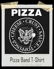 Pizza Ramones Inspired Band T-Shirt